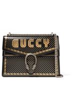 Gucci Sac porté épaule en cuir texturé imprimé Dionysus f5d824cb116