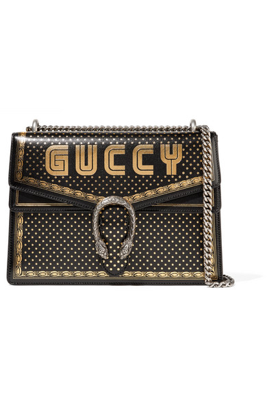 88e8920a6ff Gucci. Dionysus printed textured-leather shoulder bag