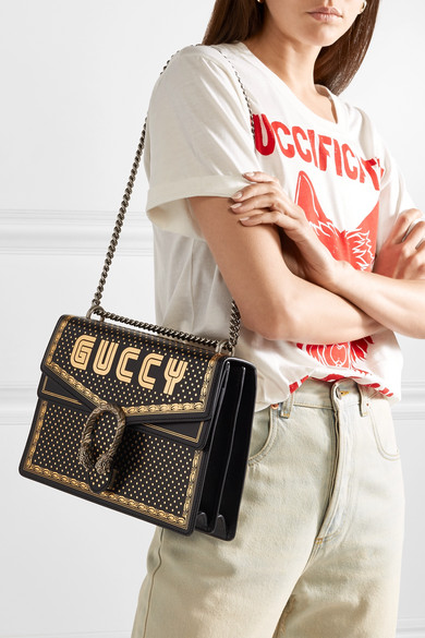 d879a0b1062592 Gucci | Dionysus printed textured-leather shoulder bag | NET-A ...