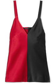 Two-tone satin camisole