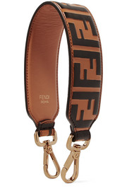 Embossed leather bag strap