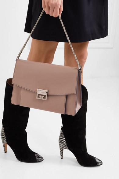 Givenchy. GV3 medium textured-leather shoulder bag.  2 02fdad5665e0a