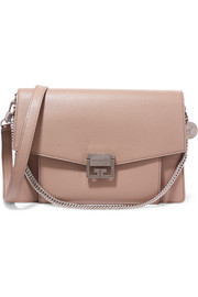 GV3 medium textured-leather shoulder bag