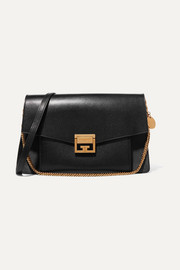 GV3 medium leather and suede shoulder bag