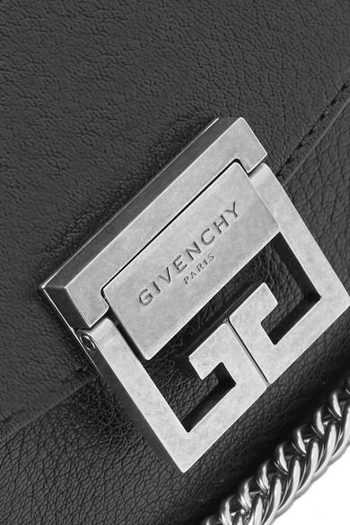 Givenchy GV3 mini Schultertasche aus strukturiertem Leder