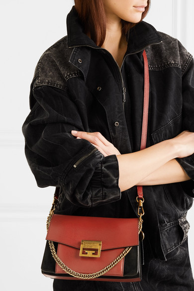 e02cb5add396 Givenchy. GV3 small leather and suede shoulder bag