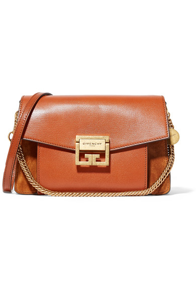 Gv3 Small Leather And Suede Shoulder Bag - Red Givenchy GDNPi