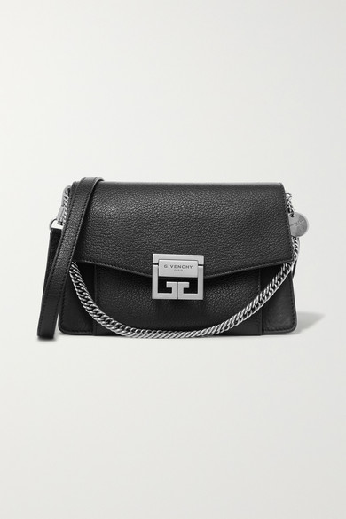 920d8476220a9e Givenchy | GV3 small textured-leather shoulder bag | NET-A-PORTER.COM