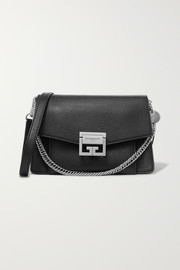 GV3 small textured-leather shoulder bag