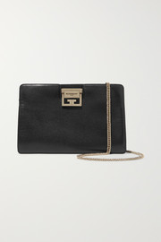 GV3 textured-leather shoulder bag