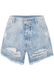 Cloudy Jeansshorts in Distressed-Optik