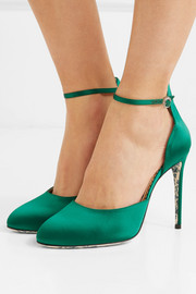 Gucci Daisy satin pumps
