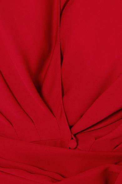 Magda Butrym Diablo Midikleid aus Seidenchiffon mit Raffungen Rabatt-Shop Spielraum 2018 Unisex Rabatt Limitierte Auflage Spielraum Klassisch Outlet Großer Rabatt XK1WQKDC