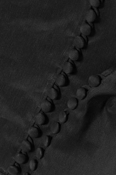 Magda Butrym Vannes Oberteil aus einer Leinen-Seidenmischung mit Rüschen und asymmetrischer Schulterpartie