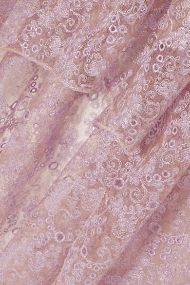 Magda Butrym Morelia asymmetrisches Kleid aus Seidenspitze