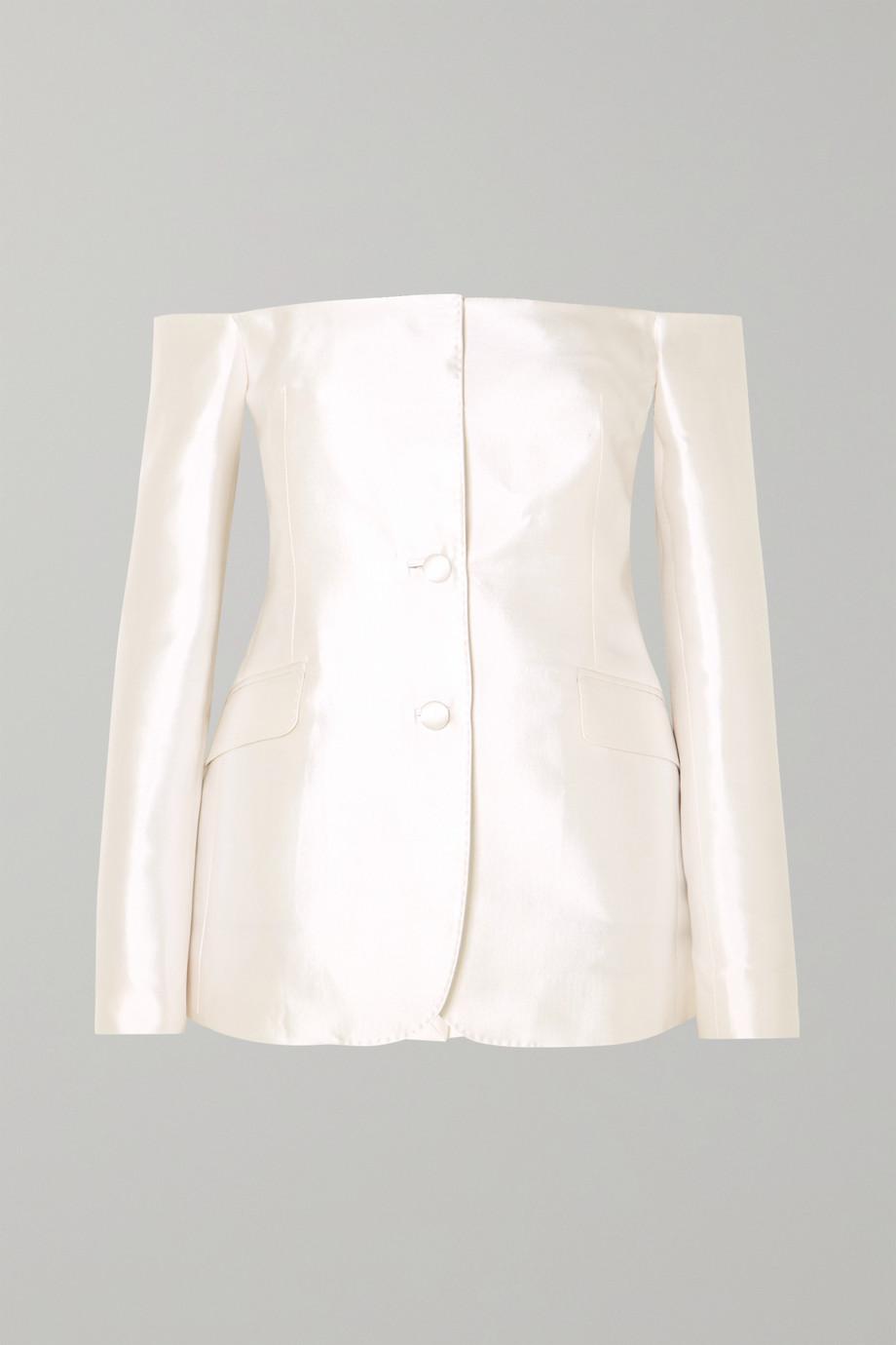 Gabriela Hearst Dorothea schulterfreier Blazer aus einer Seiden-Wollmischung