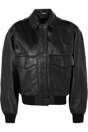 Givenchy Oversized textured-leather bomber jacket