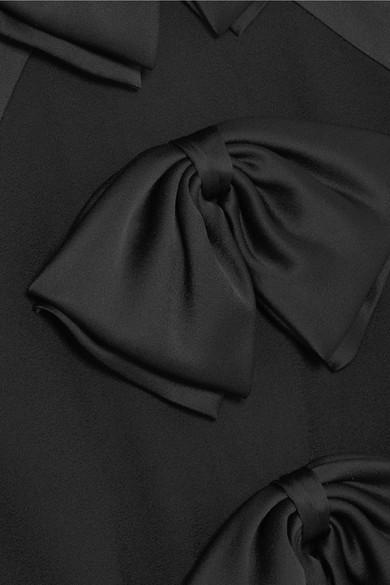 Givenchy Minikleid aus Woll-Crêpe und Tüll mit eingewebten Punkten und Schleifen