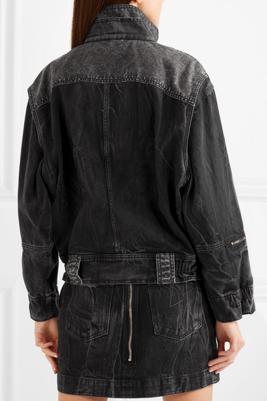 Givenchy Oversized-Jeansjacke aus Denim in Knitteroptik