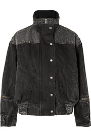 Givenchy Oversized crinkled-denim jacket
