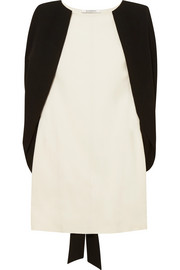 Givenchy Two-tone cape-effect crepe mini dress