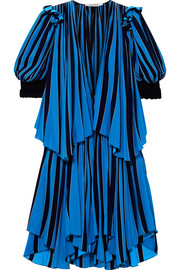Givenchy Layered striped cotton-crepe dress
