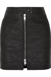 Givenchy Metallic textured-leather mini skirt