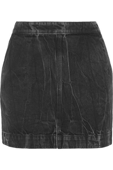 Givenchy Minirock aus Denim in Distressed-Optik