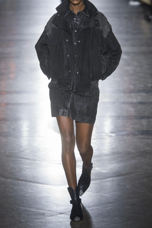 Givenchy Distressed denim mini skirt