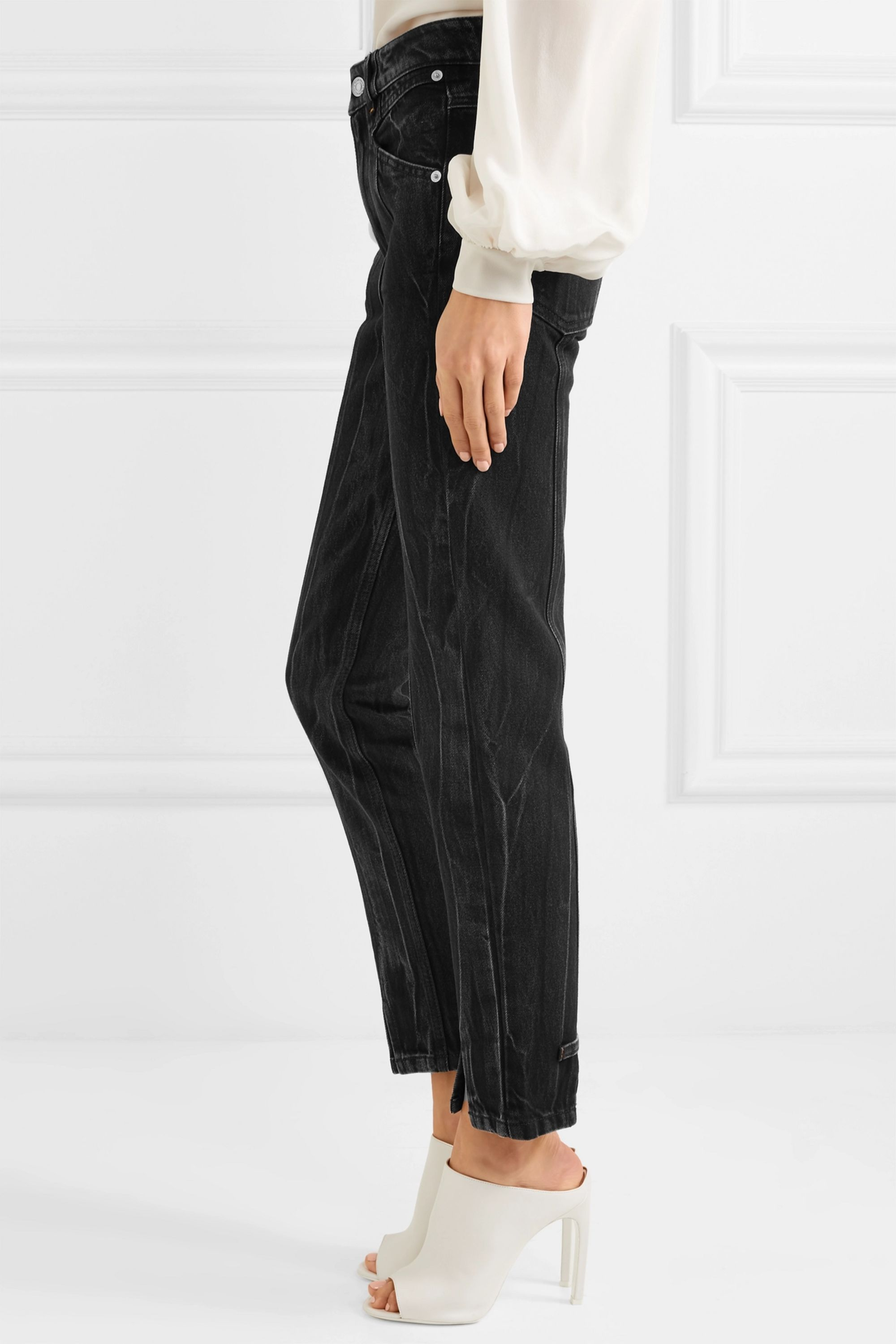 Givenchy Distressed high-rise slim-leg jeans