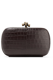 The Knot crocodile clutch