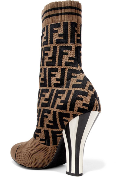 Fendi Logo Sock Boots skzWw