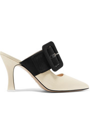 Chloe two-tone moire mules