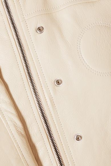 Chloé Trenchcoat aus strukturiertem Leder mit Gürtel