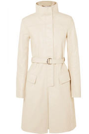 Chloé Belted textured-leather trench coat
