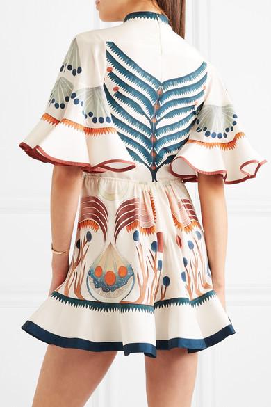 Chloé Minikleid aus vorgewaschener Seide mit Rüschen 2018 Günstig Online Rabatt Finish Auslass Gut Verkaufen Wählen Sie Eine Beste Freiheit Ausgezeichnet UuDc395y
