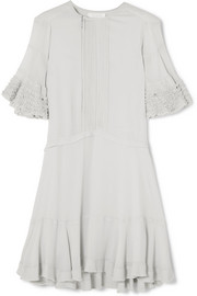 Chloé Ruffled crepe mini dress