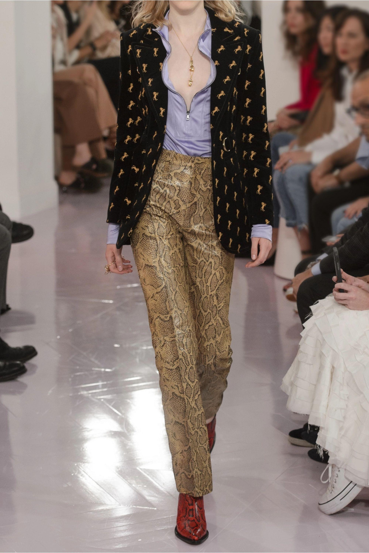 Chloé Embroidered cotton-blend velvet blazer