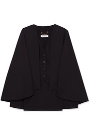 Chloé Cape-effect wool-blend vest