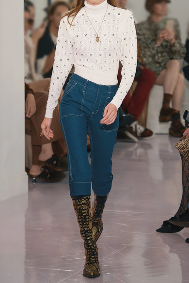 Chloé Verkürzte hoch sitzende Skinny Jeans