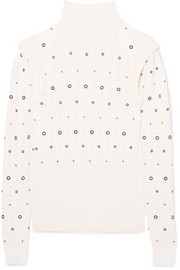 Chloé Embellished knitted turtleneck sweater