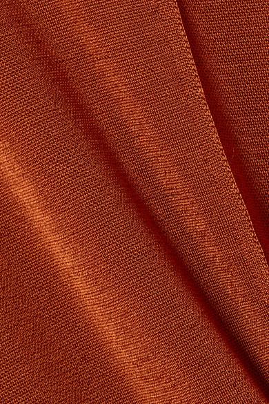 Chloé Oberteil aus Stretch-Strick mit Metallic-Effekt und Cut-outs