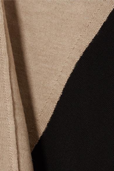 Chloé Zweifarbiges Oberteil aus einer Wollmischung