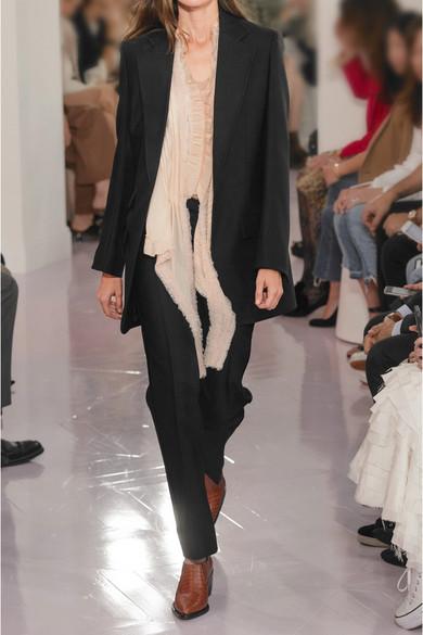 Chloé Hose mit geradem Bein aus einer Woll-Seidenmischung