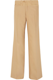 Chloé Wool and silk-blend wide-leg pants