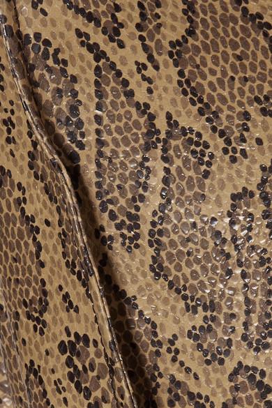 Chloé Minirock aus Leder mit Schlangeneffekt