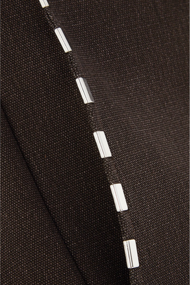 Chloé Verzierter Minirock aus Baumwoll-Canvas