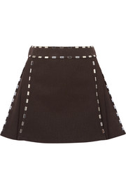Chloé Embellished cotton-canvas mini skirt