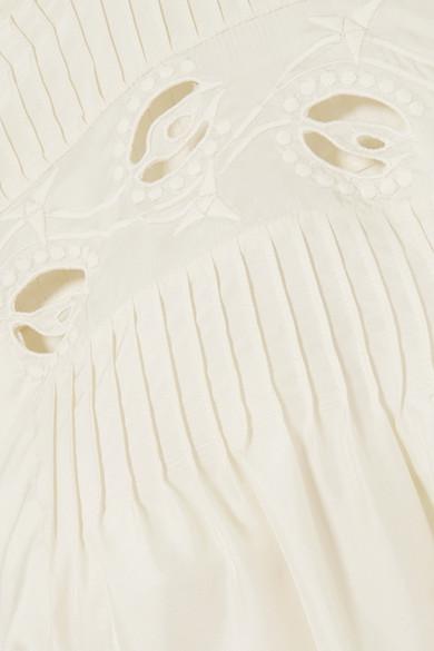 Chloé Oberteil aus Seide mit Biesenfalten