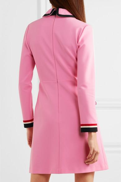 3b813ccc3 Gucci | Grosgrain-trimmed jersey mini dress | NET-A-PORTER.COM
